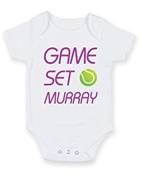 579560f10faa Game set Murray - Printed Baby Grow Vest Boy Girl Unisex Gift ...