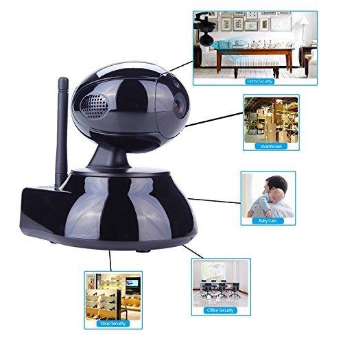 [Wi-Fi IP Camera] Network IP Camera, J-DEAL Indoor Wireless Day Night Pan/Tilt Baby Monitor / Surveillance WIFI CCTV IR Security Camera (Black) [並行輸入品] B01KDO1SQC