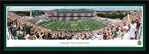 Colorado State Rams Football - 42x15.5-inch Single Mat, Select Framed Picture by Blakeway Panoramas]()