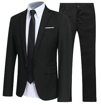 BingSai - Pantalón de Traje - para Hombre Negro Negro (XXS ...