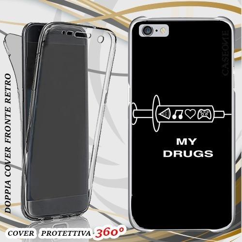 CUSTODIA COVER CASE MY DRUGS PER IPHONE 6 PLUS FRONT BACK