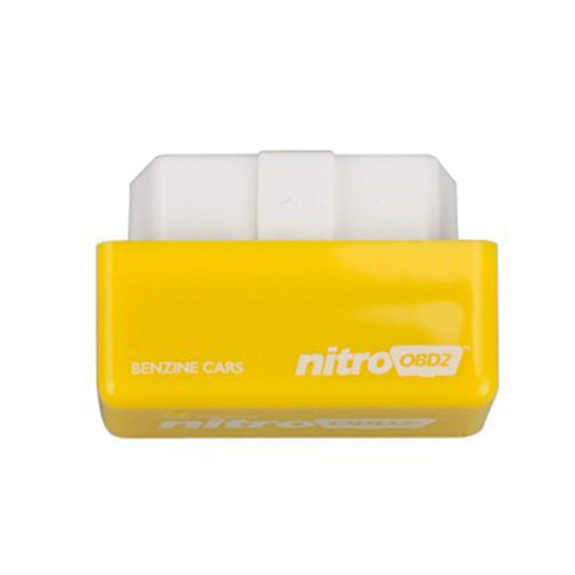 Funnyrunstore NITRO OBD2 Car Power Lifter Fuel Saver Chip Box (amarillo)