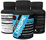 Naturo Nitro Creatine Chrome with Magnapower™ - Rapid Muscle Gain, Increased Muscle ATP and Cell Volumization, 90ct, 30 Day Supply