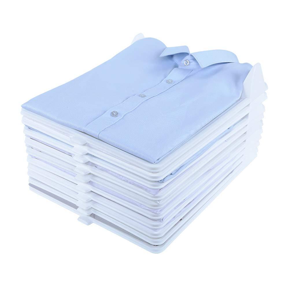 2019(最新版) 衣類 収納 シャツ収納 折たたみボード 服のフォルダ 便利 折り畳み板 積み重ね 省スペース 整理 棚 新生活応援 10枚セット