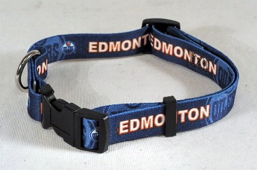 NHL Edmonton Oilers Adjustable Pet Collar, Team Color, Medium
