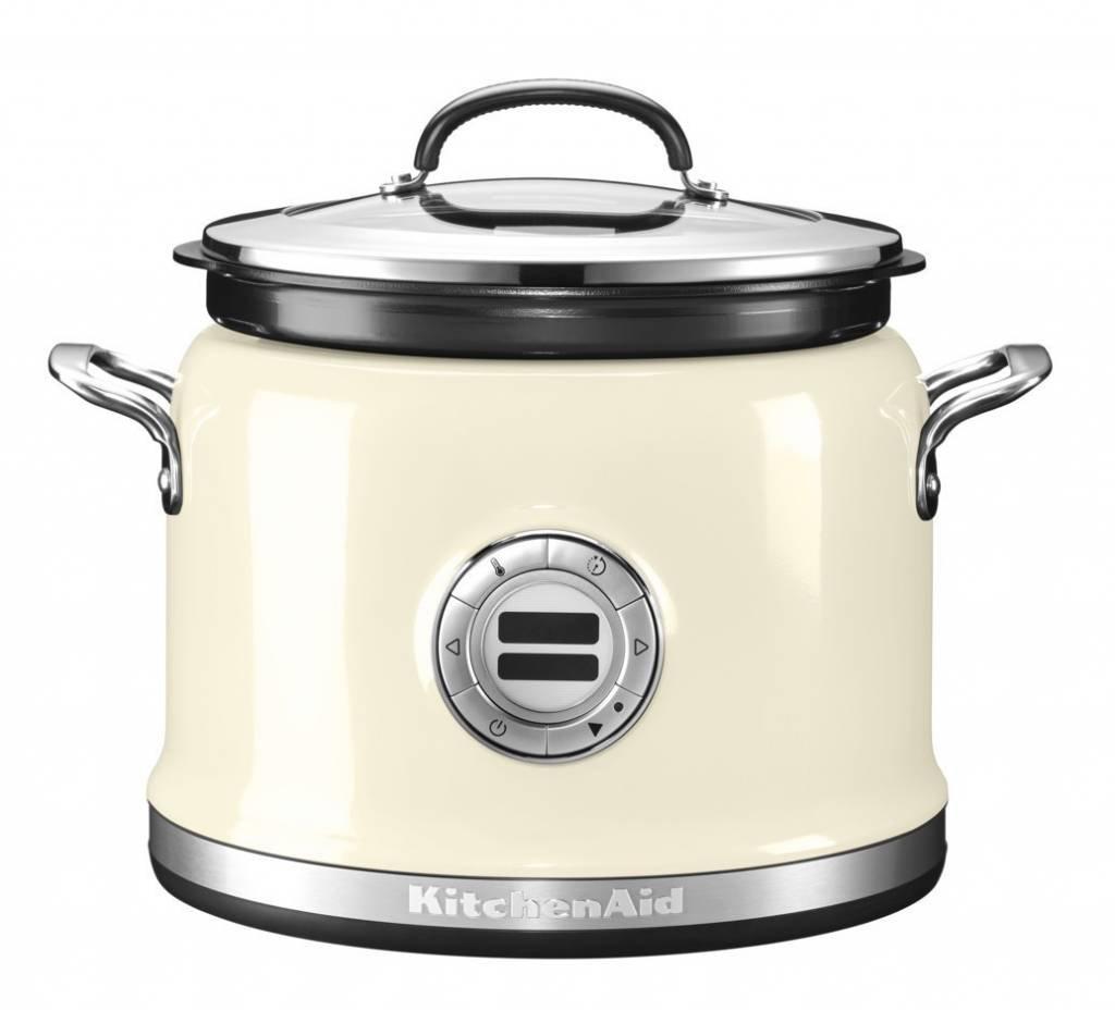 KitchenAid 5KMC4244 olla multi-cocción 4,25 L 700 W Crema de color - Ollas multi-cocción (4,25 L, 700 W, Crema de color, Acero inoxidable, LCD, ...