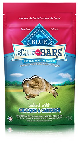 (Blue Mini Bars Chicken & Cheddar Biscuit Dog Treats 8-Oz)