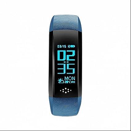 Reloj Inteligente Bluetooth Deportivo de Pulsera,Pulsómetro Pulsera Actividad con Rastreador de Ejercicios Monitor de Sueño ...