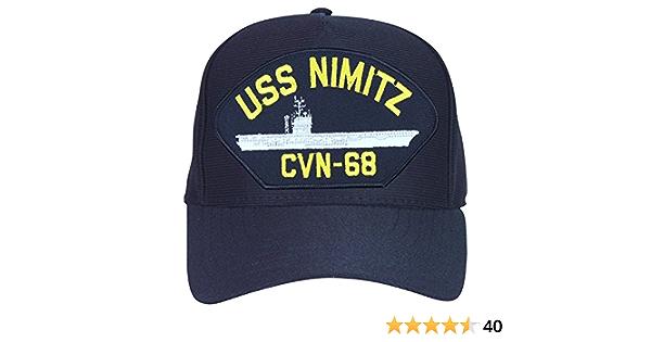 Black Washed cotton cap dad hat USS NIMITZ CVN-68 BATTLESHIP