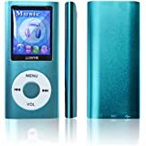 Lonve Music Player 8GB MP4/MP3 Player Blue 1.82'' Screen MP3 Music/Audio/Media Player with FM Radio