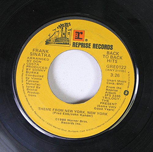 Frank Sinatra 45 RPM Theme From New York, New York / You And Me (We Wanted It - Bristol Costa