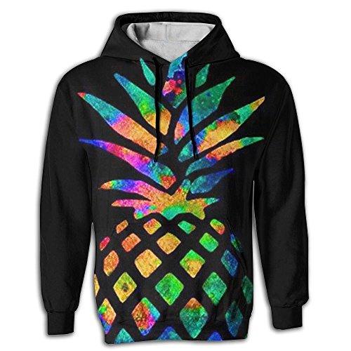 Scintillating Pineapple Men's Adult Print Hoodies Cozy Drawstring Pockets Pullover Hooded Sweatshirt Prime Exclusive (Midsummer Salad)