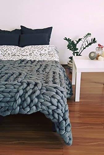 Amazon Com Merino Throw Chunky Blanket Blanket Throw