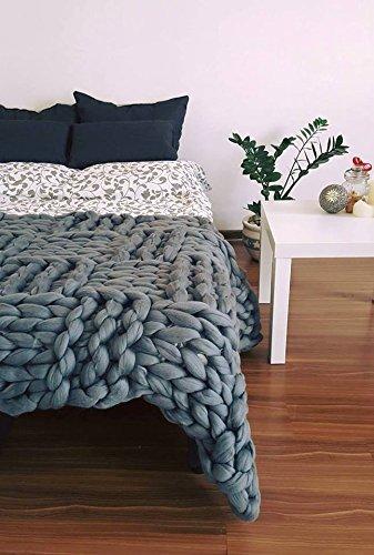 Amazon Merino Throw Chunky Blanket Blanket Throw Wool