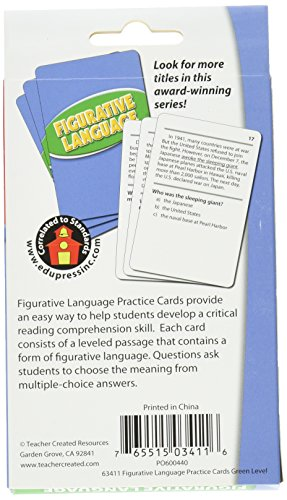 Reading Comprehension Practice Cards, Figurative Language, Green Level (EP63411) Photo #4