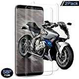 Galaxy S8 Plus Screen Protector, Zouxin [2-Pack] Tempered Glass 3D Screen Protector for Samsung Galaxy S8 Plus, 9H Hardness, Bubble Free, Anti-Fingerprint HD Screen Protector Film
