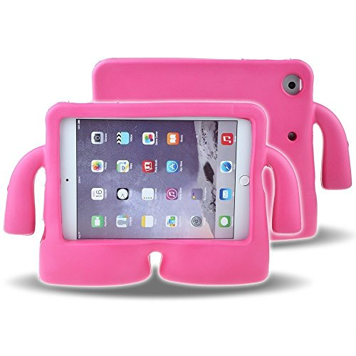 Lioeo iPad Mini Case for Kids iPad mini 4 Case with Handle Stand Shock Proof Cover Lightweight EVA Foam Protective Cases and Covers for Apple iPad Mini 4 3 2 1 7.9 inch (Hot Pink) by Lioeo (Image #5)