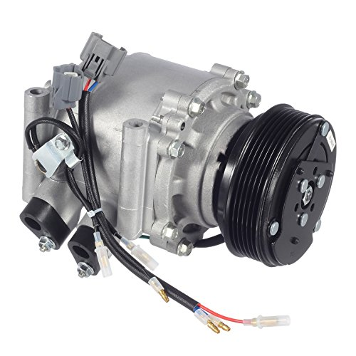AUTEX AC Compressor & A/C Clutch CO 4914AC 38800PLMA021M2 78613 4977 2004913AM 77613 Replacement for Honda Civic 2002 2003 2004 2005 1.7L