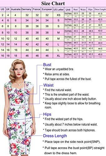 36ee4a5e247ef0 ... 1950er Bodycon Kleid Pencil Rockabilly Bp117-3 Damen Vintage Jahre  Belle Poque ...
