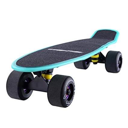Patinete- Mini Cruiser Skateboard 4 Ruedas De PU Mate Y ...
