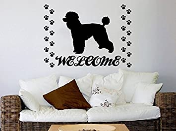 Dog Wall Decals Welcome Grooming Salon Decal Vinyl Sticker Pet Shop Animals  Decor Interior Design Art