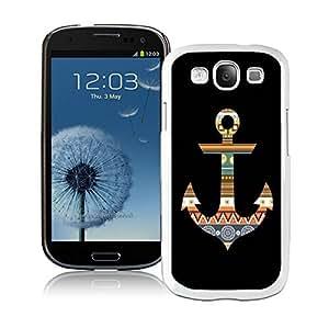 BINGO Cheap no minimum Aztec Anchor Samsung Galaxy S3 i9300 Case White Cover
