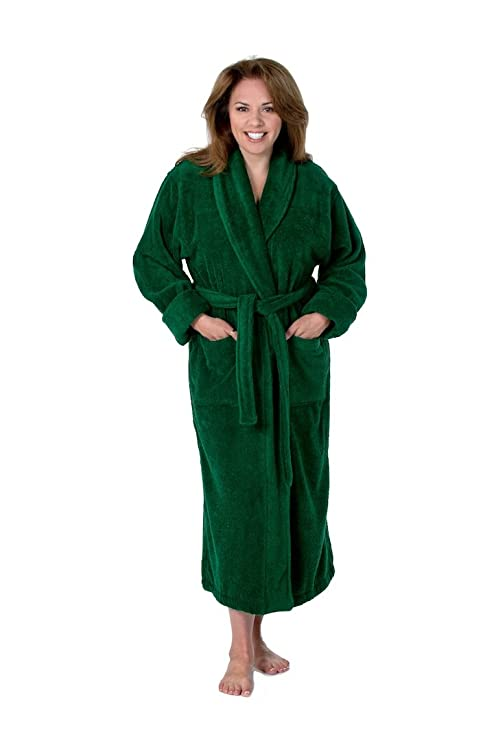 fc7404f55d THIRSTY Towels Turkish Cotton Luxury Bathrobe for Men and Women-22 OZ-630  GSM at Amazon Women s Clothing store  Novelty Bathrobes