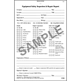 General Equipment Inspection Book - Stock (Qty: 5 Units)