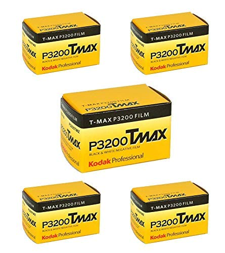 (5 Rolls) Kodak T-MAX P3200 35mm Film TMZ 135-36 B&W Black & White Film