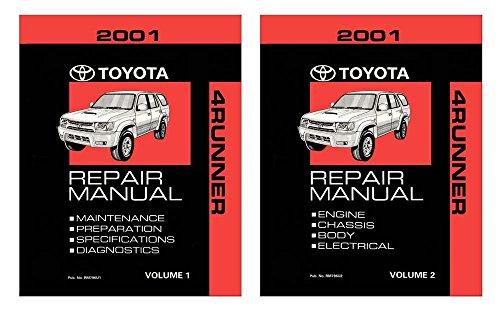 bishko automotive literature 2001 Toyota 4-Runner Shop Service Repair Manual Book Engine Drivetrain OEM
