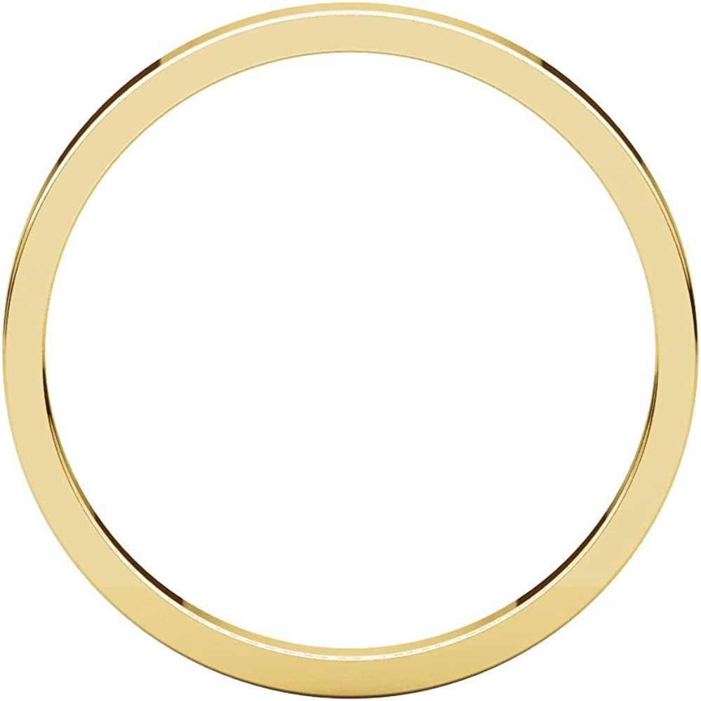 Bonyak Jewelry 18k Yellow Gold 2mm Flat Band Size 17