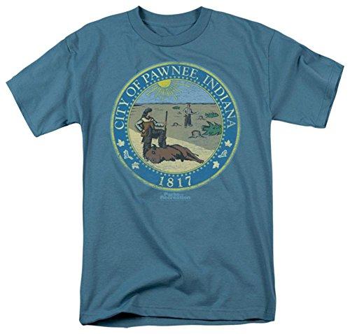 Parks & Rec-Distressed Pawnee Seal T-Shirt Size M