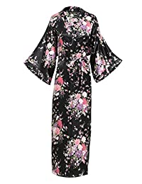 BABEYOND Womens Kimono Robe Satin Silk Kimono Nightgown 135cm Long