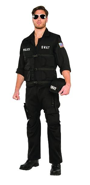 Amazon.com: Pizzaz! Mens S.w.a.t. Police Jumpsuit Costume ...