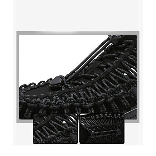 Verano YXLONG Ocasionales Hombres blue Zapatos Nuevo De A Los Zapatos Transpirables Playa De Personalidad Mano De Sandalias 2018 Simples Luo La Tejidas Marea wwqr1x5