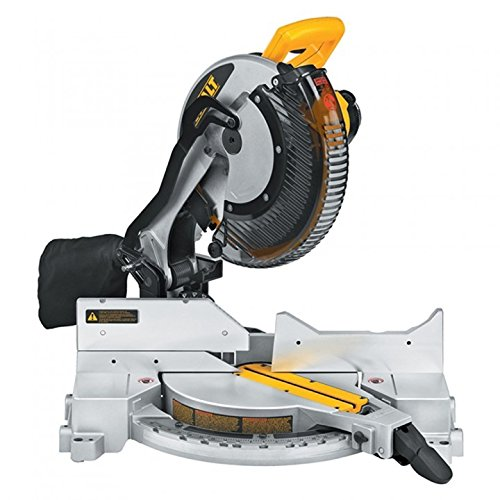 DEWALT DW715 15-Amp 12-Inch Single-Bevel Compound Miter Saw (Finish Molding Wood Base)