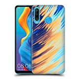 Official Andi Greyscale Two Sides of One Extreme Abstract Marbling Hard Back Case Compatible for Huawei P30 Lite