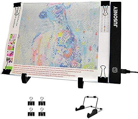 JUSONEY 5D Diamond Painting Kit-wirtschaftlich und praktisch 33 St/ück DIY Diamant Malerei Zubeh/ör-Pack mit 28 Slots Diamant Stickerei Box Keramik Pinzette Pens Toolbox