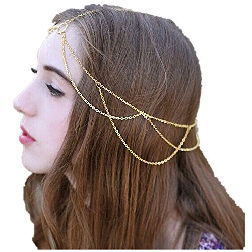 Datework Women Tassels Head Jewelry Chain Headband for cheap
