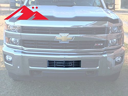 Mountains2Metal 2015-2019 Chevy Silverado 2500 3500 HD Duramax Brushed Stainless Steel Bumper Grille Insert