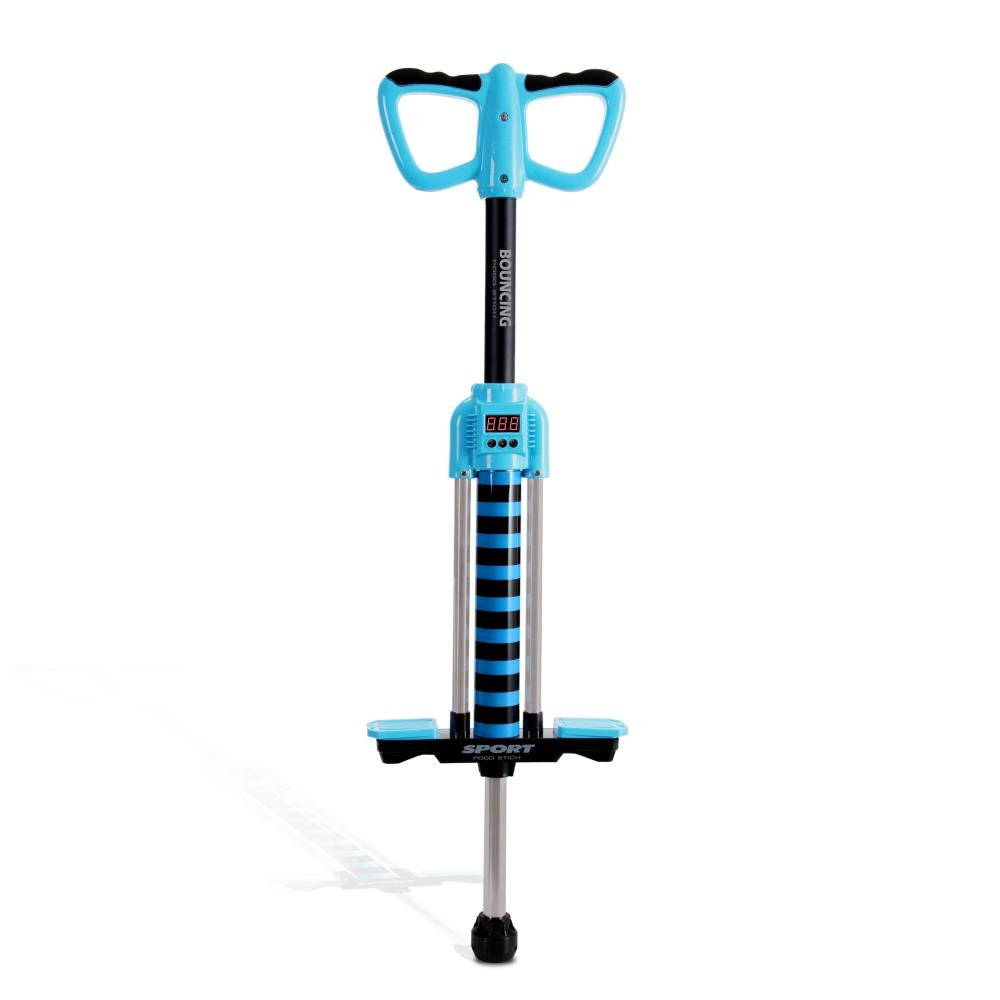 Dimple Super Safe Smart Counting Pogo Stick - First Beginner Bouncing Jumparoo with Music - Toy Jumping Sport for Little Children Boy & Girl Up to 150 Lbs - Blue by Dimple