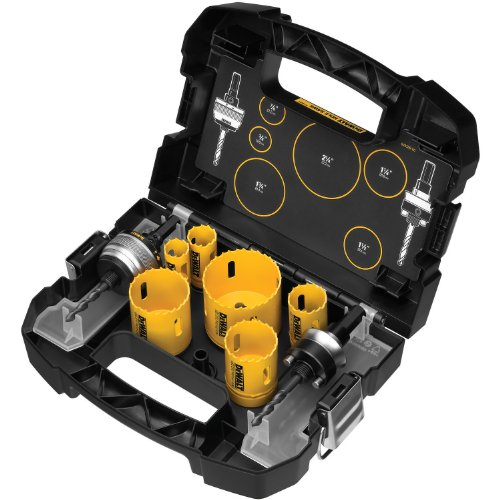 Plumbers Bit Kit (DEWALT D180001 Standard Plumbers Bi-Metal Hole Saw Kit)