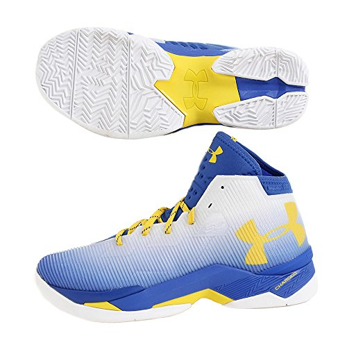 Under Armour Mens Ua Curry 2.5 Bianco / Squadra Reale / Taxi