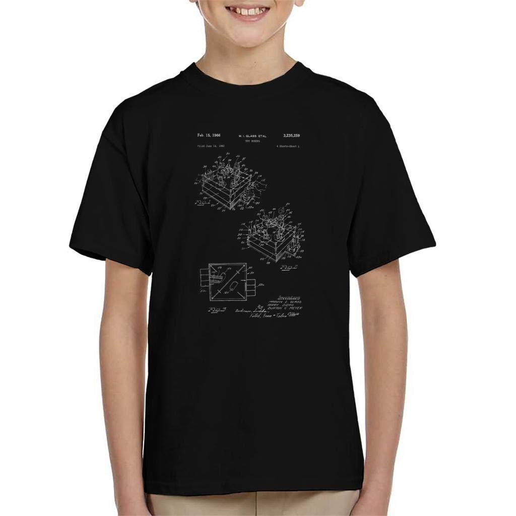 Rock Em Sock Em Robots Game Patent Blueprint Glass Kid's T-Shirt