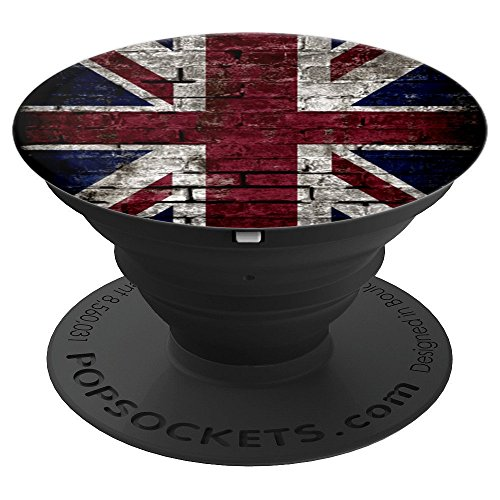 - United Kingdom UK Flag, British Flag Punk Style - PopSockets Grip and Stand for Phones and Tablets