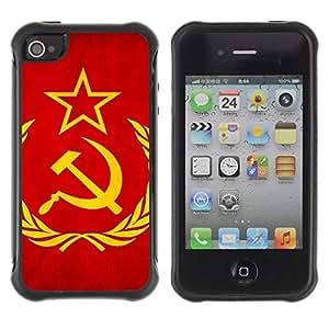 Suave TPU GEL Carcasa Funda Silicona Blando Estuche Caso de protección (para) Apple Iphone 4 / 4S / CECELL Phone case / / Soviet Union Flag /