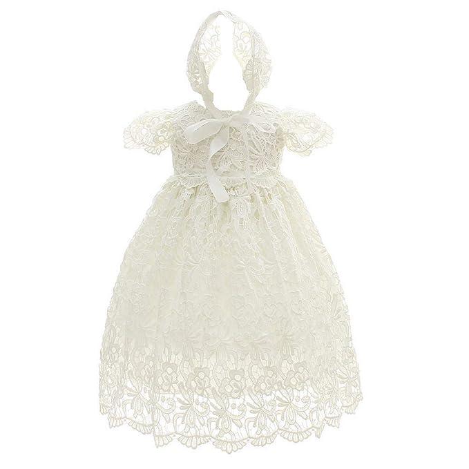 Amazon.com: Moon Kitty Vestido de bautizo para bebé, 2 ...