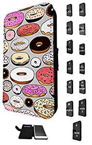 604 - Yummy icing Doughnuts Donuts Design Fashion Trend Credit Card Holder Purse Wallet Book Style Tpu Leather Flip Pouch Case Samsung Galaxy S3 Mini
