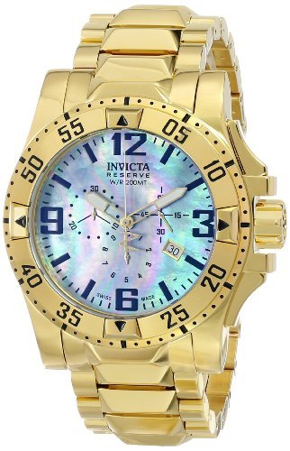 (Invicta Men's 6257 Excursion Collection Chronograph 18k Gold-Plated Stainless Steel Watch)