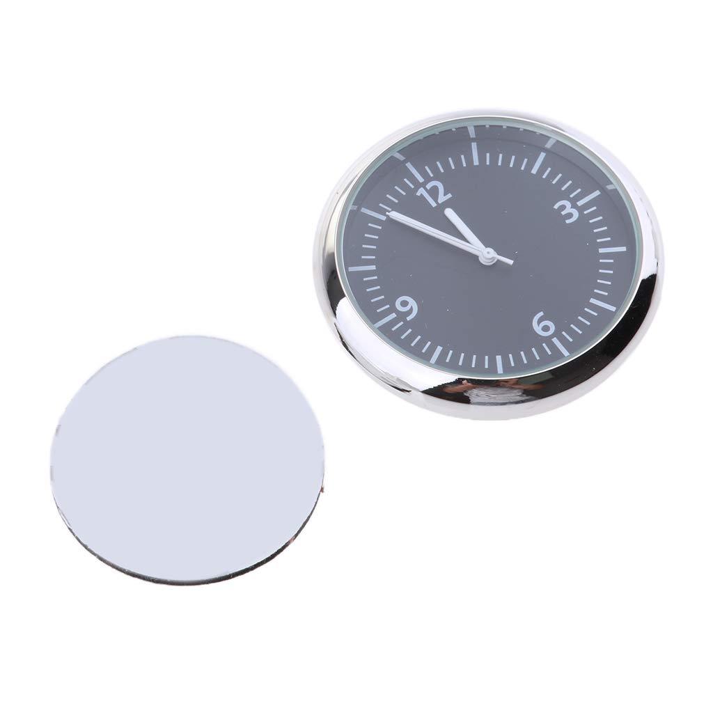 Fluorescent Blue D DOLITY High Accuracy Car Dashboard Clock Classic Table Mini Quartz Clock Stick-On Clock